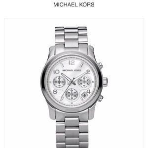Michael Kors MK5076 unisex quartz watch Silver